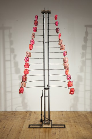 extruded epoxy cast kinetic sculpture