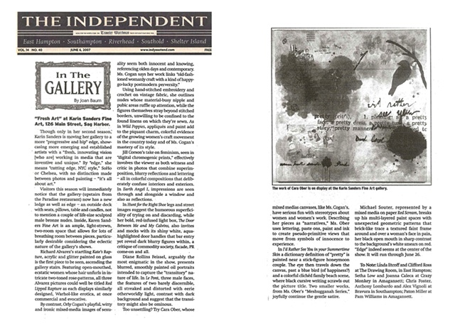 The Independent Newspaper: 'In the Gallery' by Joan Baum