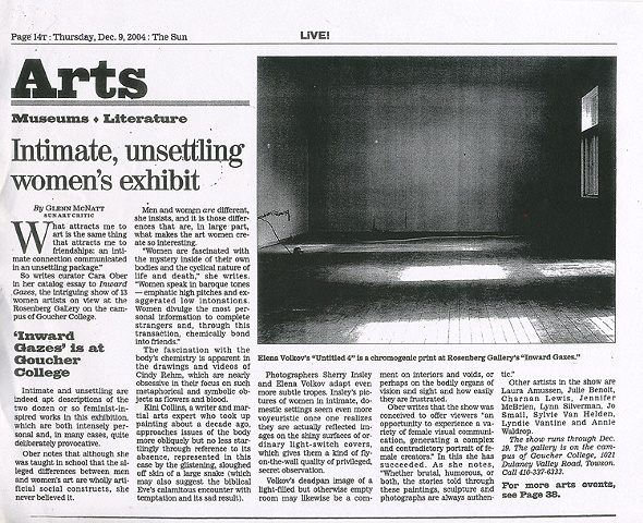 Baltimore Sun Review of Inward Gazes 2005