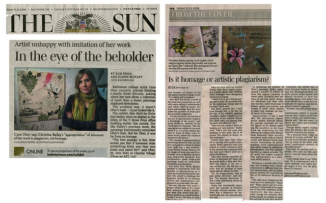 "Baltimore Sun: ""In The Eye of the Beholder"" by Sam Sessa and Glen McNatt. 1.25.208."