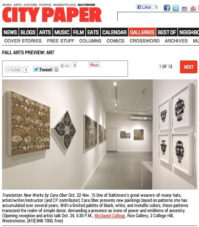 Baltimore Citypaper Fall Arts Guide