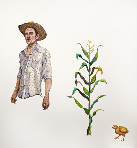 Johnny Kashner, Cornstalk and Wary-Eyed Chick