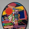 No title - oval panel