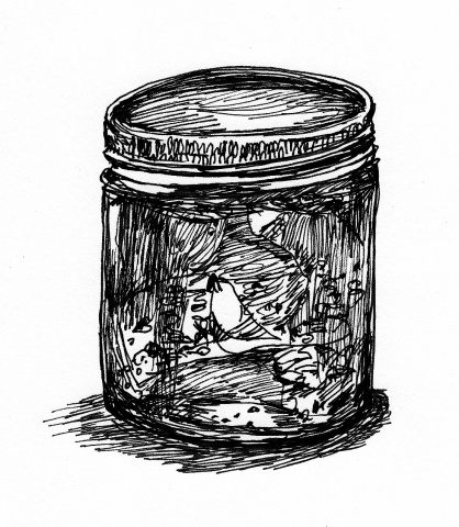 "honey jar (for ""the society for salvific love and night vision"" zine)"