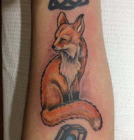 fox tattoo, Provincetown tattoo, Cape Cod tattoo, Ptown tattoo, truro, wellfleet, custom tattoo, coastline tattoo