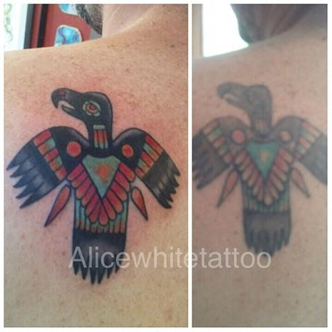 eagle tattoo, tribal tattoo, Provincetown tattoo, Cape Cod tattoo, Ptown tattoo, truro, wellfleet, custom tattoo, coastline tattoo