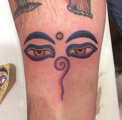 buddha tattoo, buddha eyes, Provincetown tattoo, Cape Cod tattoo, Ptown tattoo, truro, wellfleet, custom tattoo, coastline tattoo