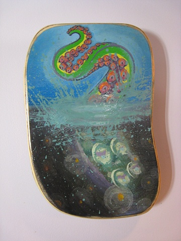 octopus tentacle painting, Provincetown, Cape Cod, Coastline, Ptown