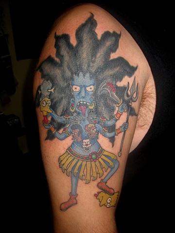 sideshow bob kali, custom tattoo, Provincetown, Cape Cod, Coastline, Ptown