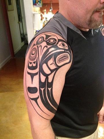 haida tribal, custom tattoo, Provincetown, Cape Cod, Coastline, Ptown