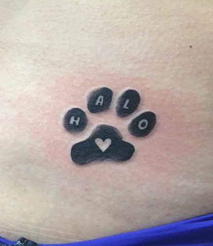 paw print tattoo, Provincetown tattoo, Cape Cod tattoo, Ptown tattoo, truro, wellfleet, custom tattoo, coastline tattoo