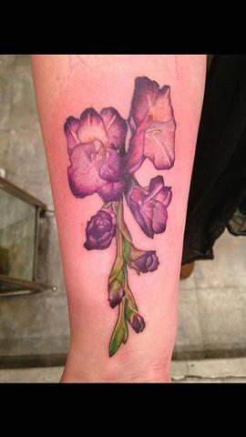 Cindy Vega - flowers tattoo, Provincetown tattoo, Cape Cod tattoo, Ptown tattoo, truro tattoo, wellfleet tattoo, custom tattoo, coastline tattoo