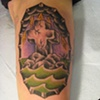 rock of ages - inside arm, custom tattoo, Provincetown, Cape Cod, Coastline, Ptown