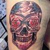 Daniel Emery Jr. - sugar skull tattoo
