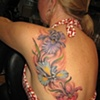 flowers, iris, custom tattoo, Provincetown, Cape Cod, Coastline, Ptown