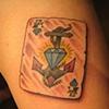 cards, ace, diamond, custom tattoo, Provincetown, Cape Cod, Coastline, Ptown