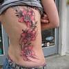 orchids, flowers, custom tattoo, Provincetown, Cape Cod, Coastline, Ptown