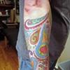Paisley,  custom tattoo, Provincetown, Cape Cod, Coastline, Ptown