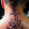 Mom Anchor, banner, lettering, custom tattoo, Provincetown, Cape Cod, Coastline, Ptown