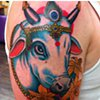 Eric Eaton - decorated bull head tattoo