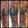 Charles Rouse - pirate ship tattoo