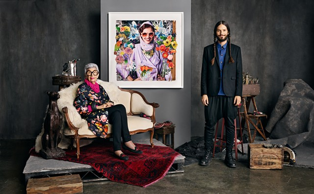 James Gortner / Iris Apfel photo by Michael Schwartz