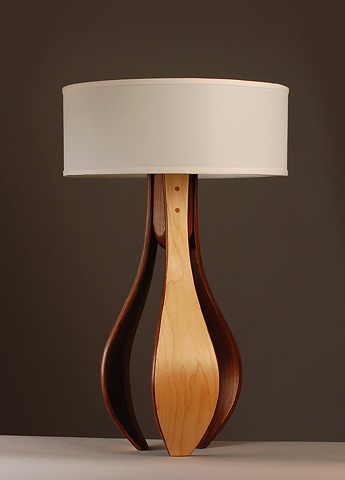 hand made table lamp mid century modern handmade by Kyle Dallman