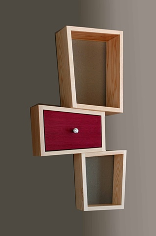 small wall cabinet, shelf, handmade by Kyle Dallman