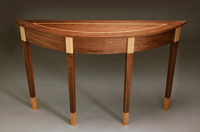 Walnut at ash Hall Table handmade by Kyle Dallman