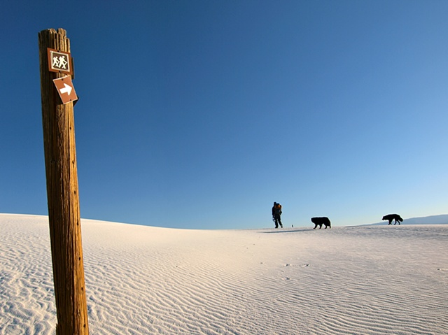 White Sands Trail Marker