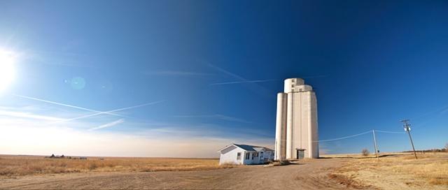 Blue Sky/ Grain Tower
