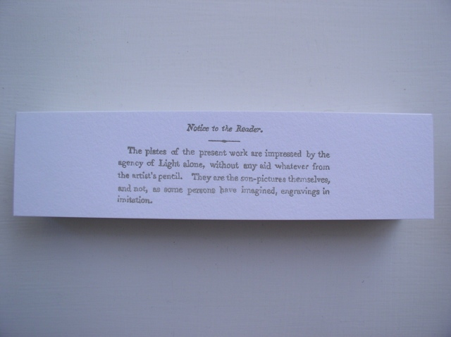 letterpress bookmark by Molly Springfield