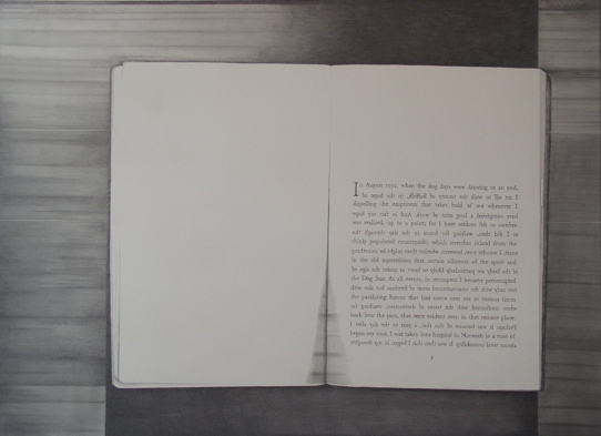 graphite drawing book photocopy by Molly Springfield W.G. Sebald