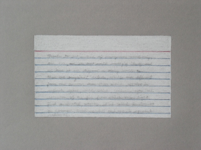 graphite colored pencil drawing index card by Molly Springfield
