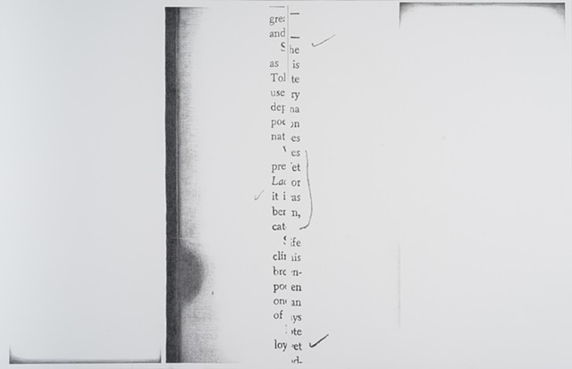 Molly Springfield text drawing photocopy marginalia