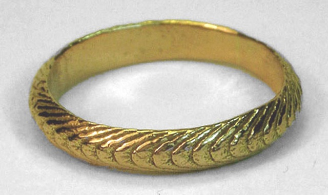 thin gold cuttlefish ring