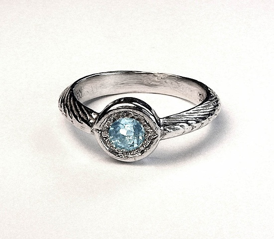 blue bauble ring