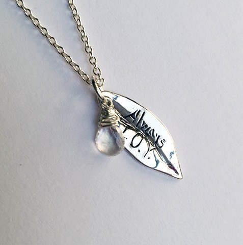 jewelry by jennifer tull westberg, custom leaf necklace