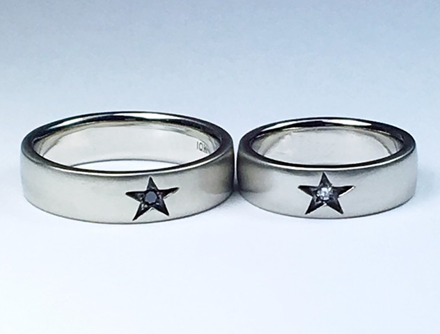 Diamond Star Wedding Rings