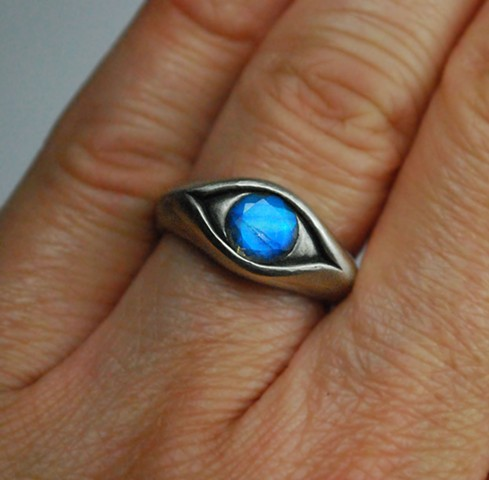 Blind Seer, Witch, Moonstone, Eye Ring