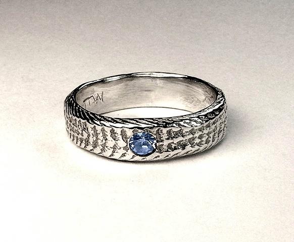 blue topaz snakeskin ring