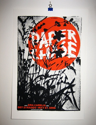 Paper Chase silk screened poster nat damm