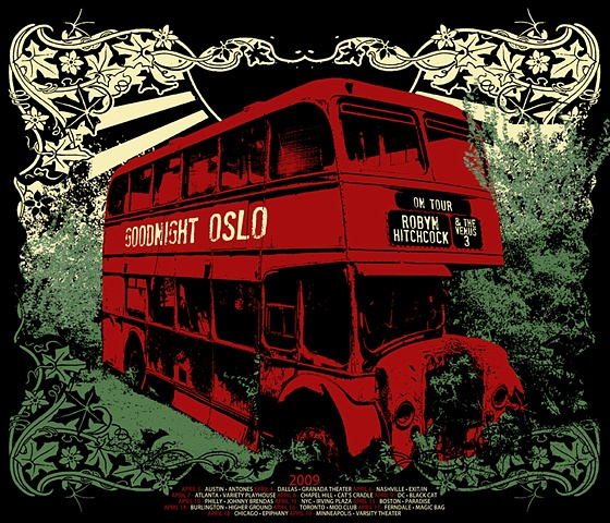 robyn hitchcock silk screen tour poster nat damm