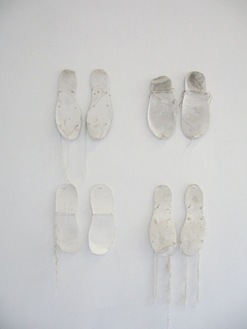 Experiments with paper shoes
