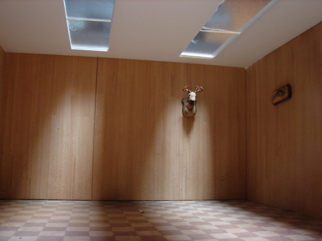 Rec Room with ceiling and Deer Head