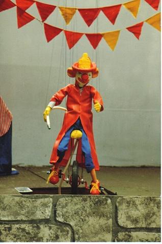 FireMan Clown Unicyclist
