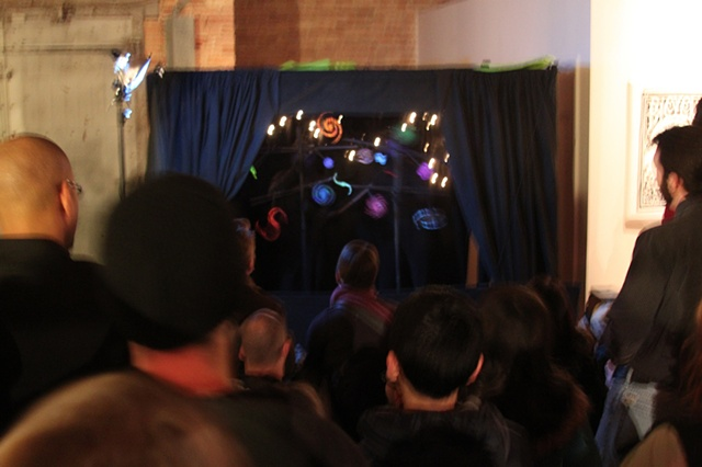 Opening Performance of 'Infinite Cycle' for The Critical Mass Bike Winter Art Show 2011