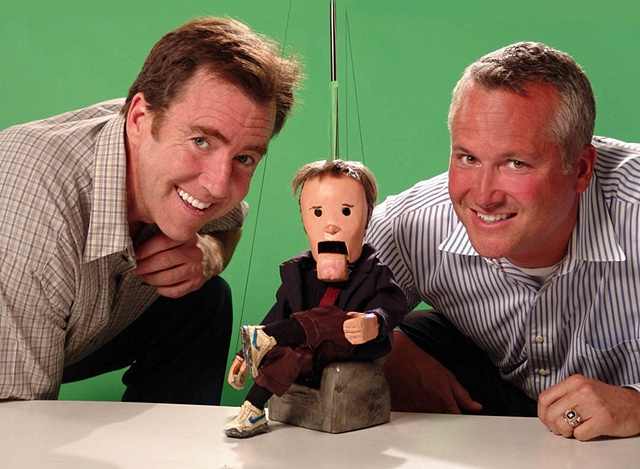 Bill O'Neil and Tim Smithe with Mark Smithe marionette