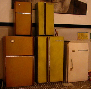 All 3 old Fridges ready for the shoot.