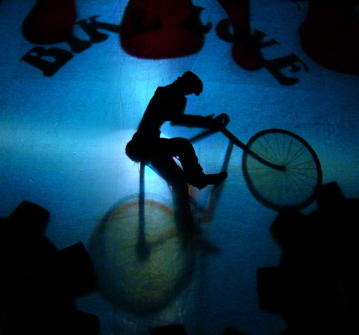 Mt Biker Shadow Puppet